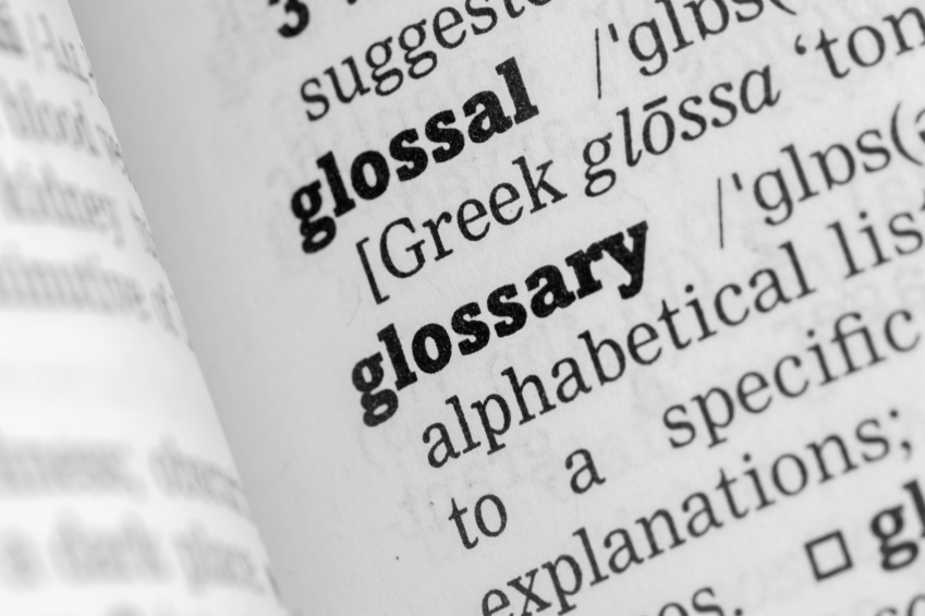 Image result for Glossary