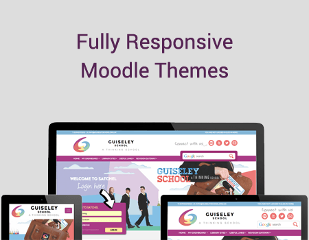 Improving course content using responsive Moodle themes