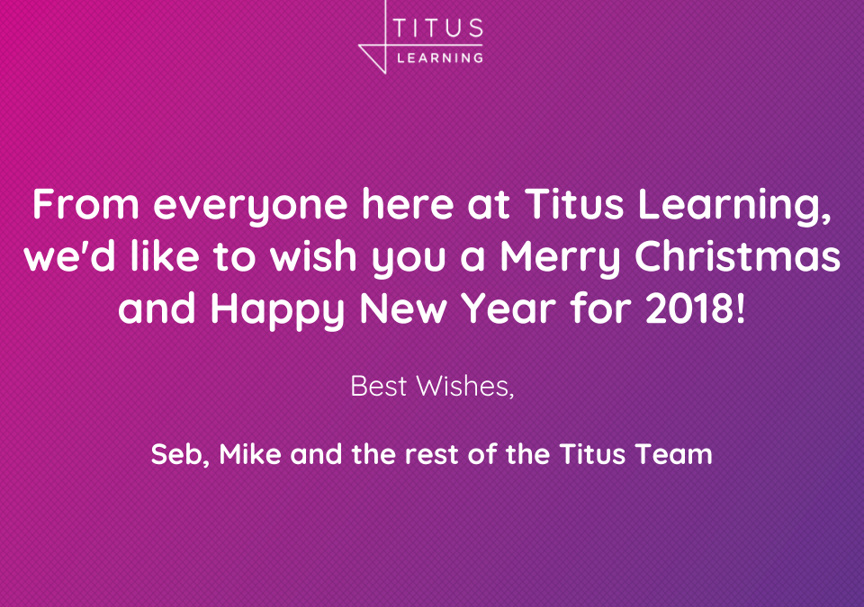 Merry Christmas from all of us at Titus Learning!
