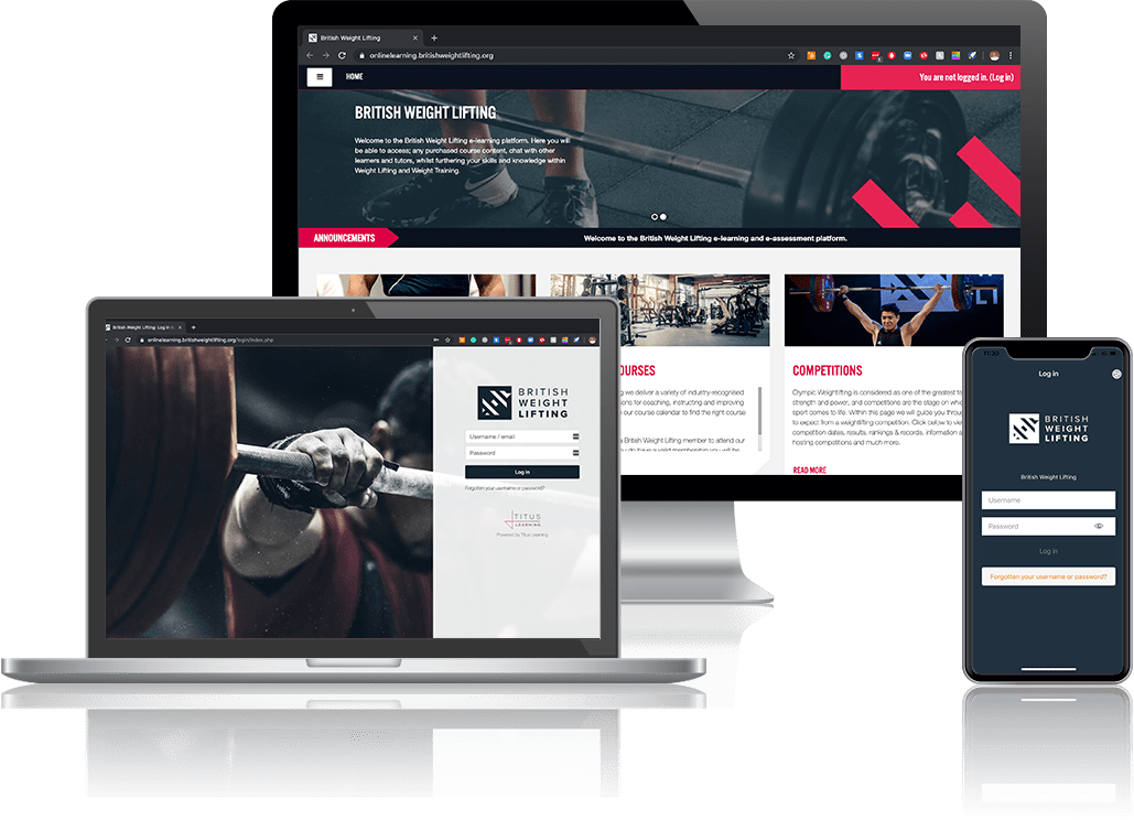 British Weightlifting - Titus Moodle Client Mockup