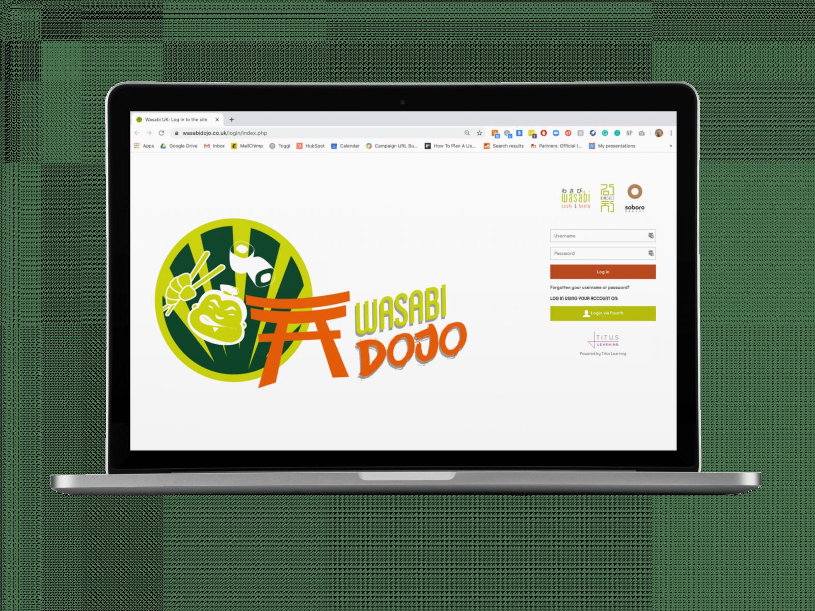 Wasabi - Titus Moodle Client - Mockup