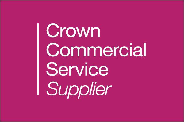 crown commercial service supplier logo pink
